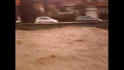 Паника в Дупница !река Джерман Излезе От Коритото Си