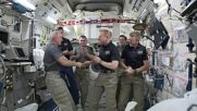 Space: Astronaut Tim Kopra hands over command of ISS to Jeff Williams