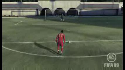 Fifa 09 - Cristiano Ronaldo - Две Греди И Гол