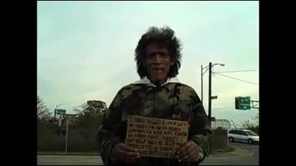 бездомен мъж със златен глас
