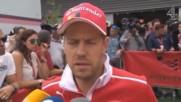 Формула 1 Гран При Белгия 2017 Фернандо Алонсо И Себастиан Фетел Интервюта След Квалификациите