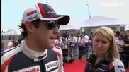 Формула1 - Япония 2012 - Интервюта с Пилотите - Sky Sports F1