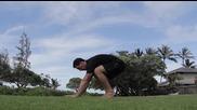 Плуващ кран и скок, гимнастика