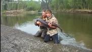 Руснаци залавят риба страхотен екземпляр