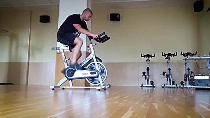 90 дневна трансформация | Изграждане на мускул, горене на мазнини | Ден 7 - Спининг