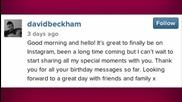 David Beckham has Joined Instagram!