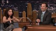 Selena Gomez on Jimmy Fallon Checks the Tonight Show Studio for Ghosts 2015