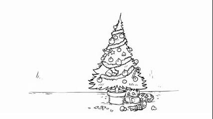 Simons Cat in santa Claws Котката на Симон в Дядо Коледа