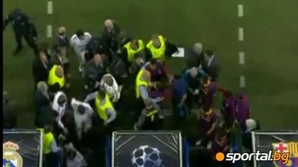 Сблъсъци на полувремето Real Madrid-parsa