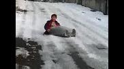 Пързаляне със наилон! Тотално блъскане! :д