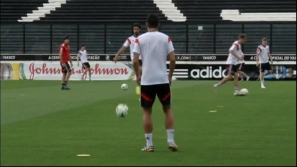 Тренировката на Германия преди най-важния мач