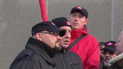Estonia: Anti-immigration protesters gather in Haapsalu