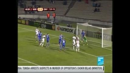 """""""Бордо"""" - """"Динамо"""" (Киев) 1-0, французите продължават в """"Лига Европа"""""""
