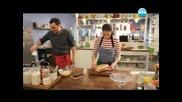 Tортили с червен боб, ципура върху спанак, бостънска торта - Бон Апети (07.02.2013)