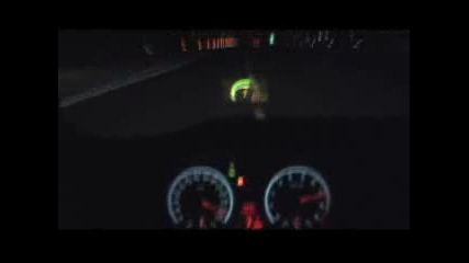 Eто как върви Bmw M6 0 to 332 Km H on Launch Control and Head - Up Display!!!!!