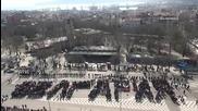 Варненци изписаха с телата си България (03.03.2013)