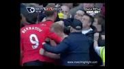 English Premier League: Manchester City vs Manchester United 0:1. Paul Scholes last seconds header