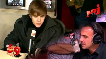Justin Bieber Nrj interview Part 1