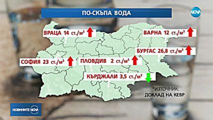 Водата поскъпва от 1 януари в редица градове