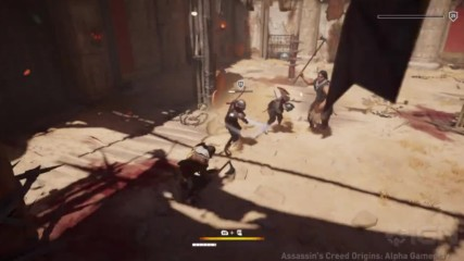 Assassins Creed Origins Gladiator Arena Krokodilopolis Gameplay in 4k - E3 2017