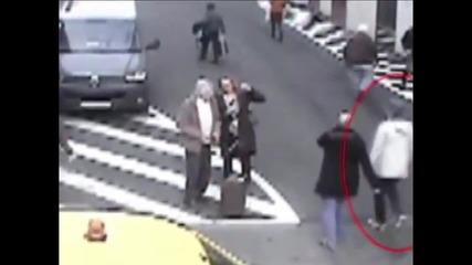 Появиха се нови кадри на издирвания атентатор от Брюксел