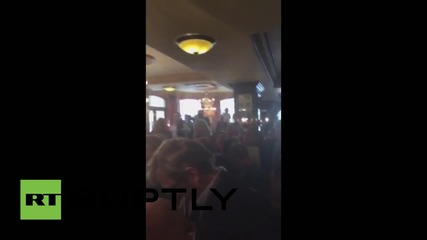 UK: A victorious Corbyn addresses his supporters in London pub