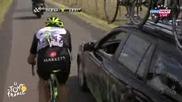 Некъдърен шовиор блъска велосипедист по време на състезание