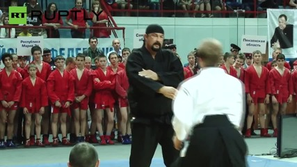 Steven Seagal Shows Off His Best Aikido Moves