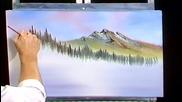 S06 Радостта на живописта с Bob Ross E03 - сутришна мъглявина ღобучение в рисуване, живописღ