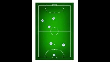 Тактика на атакуване отляво - минифутбол