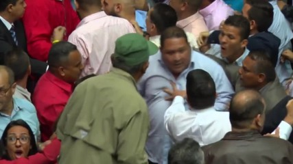 Venezuela: National Assembly vow to put Maduro on trial in raucous session