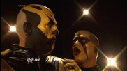 Stardust puts the finishing touch on Goldust's face paint: Raw, July 14, 2014