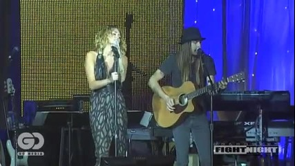 Miley Performing at Alis Celebrity Fight Night Xiii
