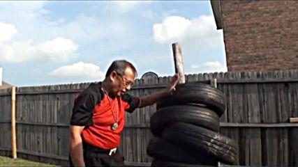 Тренировка с удряне на автомобилни гуми - Гранд Тухон Лео Гахе