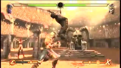 Mortal Kombat 9 Gameplay Rain Vs Shao Kahn Commentary