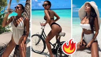 Гореща Николета - горещи снимки! Моделката съблазнява от Малдивите