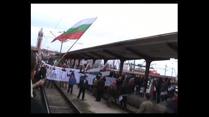Протест срещу високите сметки за ток и приватизацията на Бдж - Варна - 10.03.2013 година