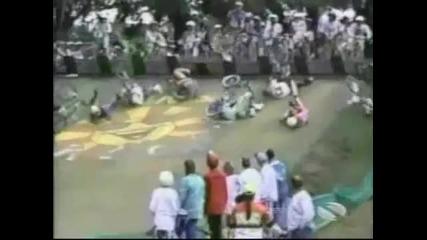 Смях с колоездачи
