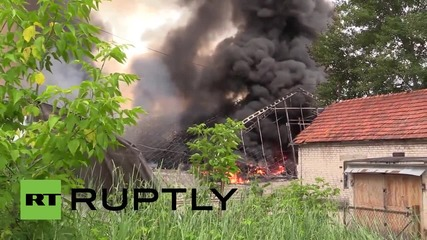 Lithuania: Drone footage captures huge warehouse blaze in Vilnius