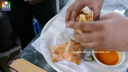 Бърза Храна на улицата в Мумбай - Mysore Sada Dosa