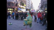 Виена_ забавление на Stephansplatz