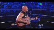 Скалата пее за Джон Сина - Raw- 12.03.12-част 2