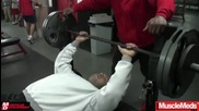 Road to the 2009 Mr. Olympia Kai Greene Trains Chest Part 1 of 2