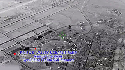 Iraq: Pentagon releases footage of alleged Iranian strike on US airbase in Al Anbar