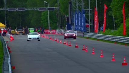 Porsche 911 Turbo срещу Mercedes C63 Amg