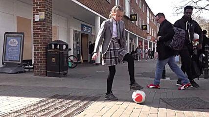 NUTS! Meet the football-mad schoolgirls who could nutmeg a mermaid