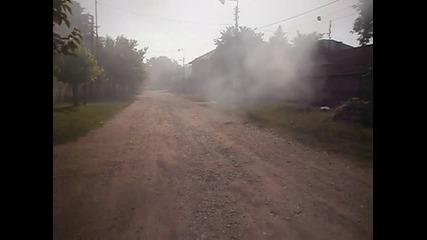 Горене изолацията на кабели - обгазяване на населеното място с поливенил хлоридни съединения