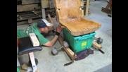 Ръчно изработване на красив люлеещ стол от дънера на дърво без нито един пирон!