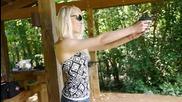 Shooting the Beretta Bobcat 21a .22lr with Cci Stingers - Girls Shooting Guns