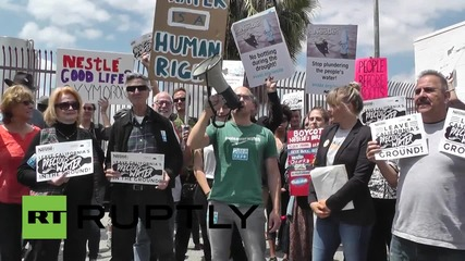 USA: Nestle's water bottling plant sparks protests in LA